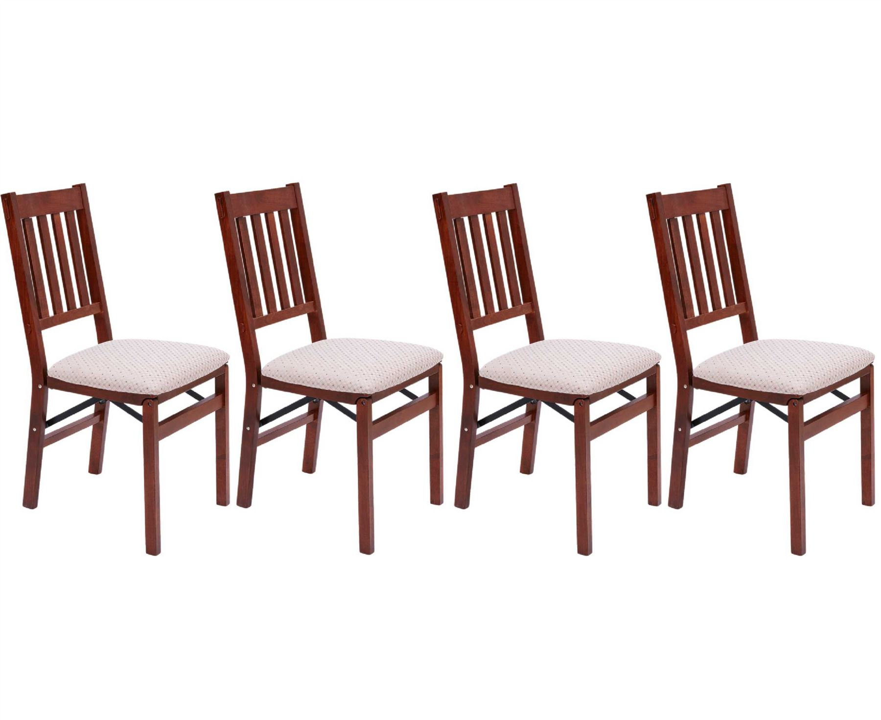 ec842ead56f1 Set Of 4 Arts   Crafts Folding Chair Dining Furniture Solid Wood Mahogany.  Click to zoom. x. x. x. x
