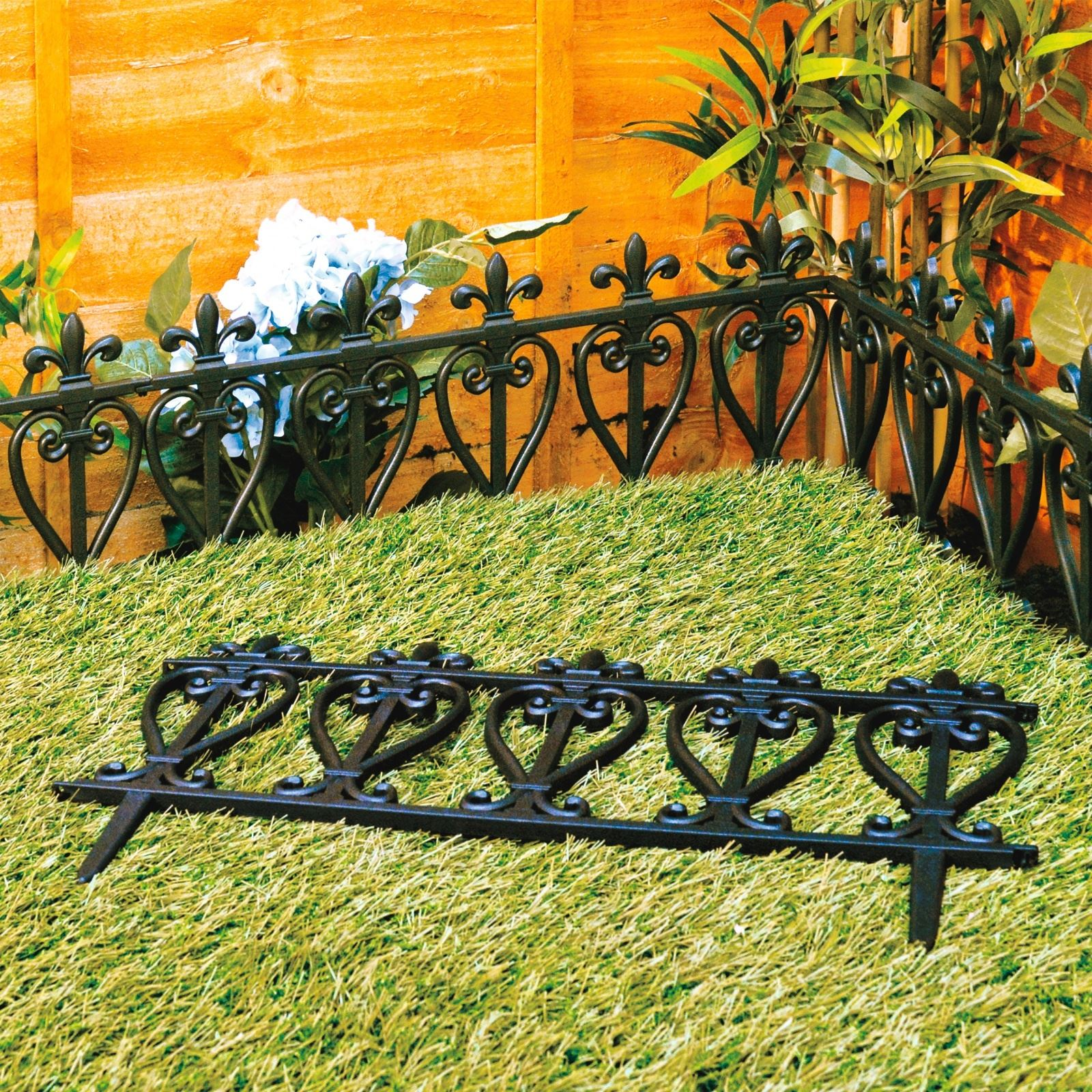 Garden Edging Lawn Flowerbed Border Fence Ornate Victorian